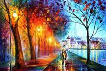 Leonid Afremov Paintings / Beautiful and cheerful oil paintings by Leonid Afremov.