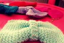 Ma Bows / Handmade knitted bow necklaces