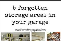 garage storage / Great storage and decluttering ideas for the garage.