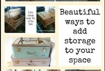 Living Room Storage / Great storage ideas and tips for organizing and decluttering your living room.