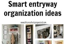 Entryway Storage / Keep your entryway neat and tidy.