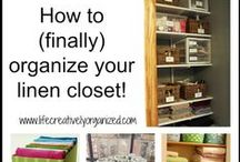 Linen Closet Storage and Organization / Great tips on how to keep things neat in your linen closet.