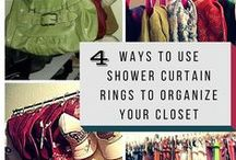 Bedroom Closets / Tips to organize and unclutter your closets.