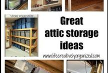 Attic storage / Wish you could use that extra space in your attic to store rarely used items, but aren't sure how to? Here are some great attic storage ideas to help.