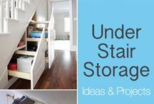 Use that wasted space under your stairs for storage! / Great added storage right under your stairs, but don't put your unwanted wizard nephew there :)