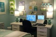 Multi-purpose guest room / How to combine a guest room with home office, craft space, and storage.