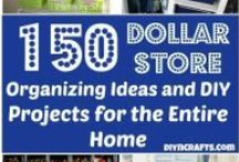 Dollar store whole house organizing :) / The local dollar store has terrific items that can be used for cheap and easy storage and organizing!  IT's one of my favorite places to purchase organizing items!