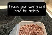 food storage in freezer/fridge / How to keep your food fresh and keep your fridge and freezer organized and clean.