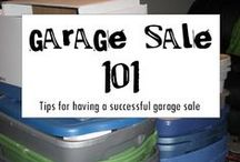 garage sales / Great tips on preparing and having a garage sale.
