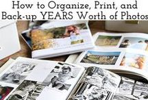 Photo storage / It can be overwhelming to figure out how to start organizing all those paper photos and 100's of pictures on your phone and computer.  These pins will help get it all organized.