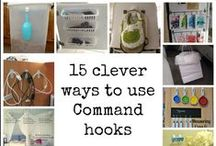 command hooks to organize :) / Command hooks are so awesome!  They can be used for so many organizing and storage ways.