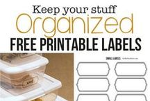 Printables - FREE! / All kinds of great printable labels to help with your organizing.
