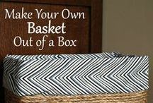 Make your own storage containers / If you are creative, you can make great storage pieces that look great, too!