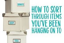 sorting and purging / Great tips on how to sort, declutter, purge, sell, and donate unwanted items!