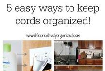 electronics storage / Keep the cords neat and tidy and create a great charging station for electronics.