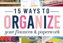organize papers/files / Are you drowning in paper clutter?  Here are ways to declutter and organize your files and bills.