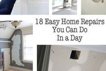 DIY Home Repairs everyone should know! / Do it yourself home repairs that every homeowner should know how to do.  These will save you a lot of money.