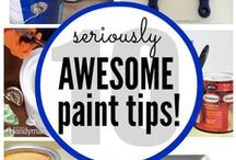 Tips for painting walls and furniture / Great tips on how to make every pain job professional-looking.