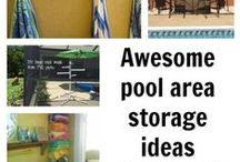 Pool storage / Keep your pool toys and supplies neatly organized