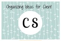 Organizing ideas for client CS / Organizing ideas and examples for one of my clients.