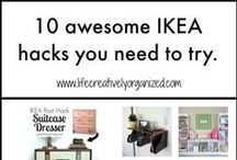 Ikea hacks / Now, I am a DIY crafty girl, but I found people that have taken this to a whole new level and I just want to share these awesome ideas with you, too.