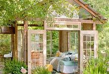 She-sheds (I can dream!) / I've always love the idea of a quiet get-away from daily life without being TOO far away.  These are some of my favorite designs of she-sheds I have seen.