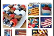 Patriotic food and decorations / Patriotic food and decorations for Memorial Day, Flag Day and 4th of July.