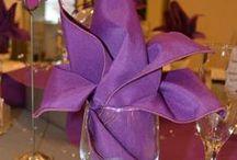 Wedding Napkin Designs and Folds