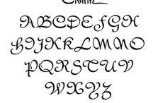 Kalligrafi / Forskellige alfabeter, stilarter og ideer
