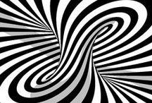 Optical illusions.