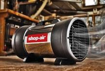 Cool Air / Helpful solutions for cooling hot spots, filtering the air and drying spills, paint, plaster, etc. Featuring Shop-Vac® Corporation's Shop-Air® product line. Also includes other helpful tips.