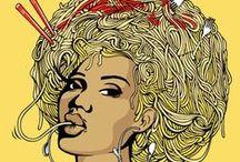 Spaghetti Illustrations