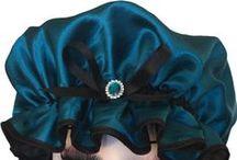 Satin Glam Kapz Shower Caps / Luxury Satin Shower Caps. Fully lined and Waterproof, large-fitting Glam Kapz. Gorgeous!