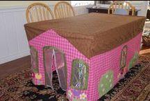 Construcciones de juguetes para niños / Manualidades para hacer juguetes, cabañas y juegos.