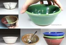 Bowls / From Miry Clay Pottery: Bowls made on a potter's wheel.