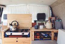 Camping im Camper / Leben und Reisen auf vier Rädern