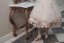 Tea Length Wedding Dress / Perfect outdoor gowns.