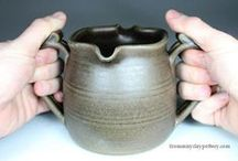Pots for Pouring / Handmade pottery made for you to pour beverages or other liquids.