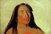 "George Catlin Paintings  / ""If my life be spared, nothing shall stop me from visiting every nation of Indians on the Continent of North America."" With these words George Catlin staked his artistic claim. He was the first great painter to travel beyond the Mississippi to paint the Indians, and his Indian Gallery, staggering in its ambition and scope, is one of the wonders of the nineteenth century. / by American Art Museum"