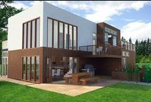 Lake House Design / This lake house was designed to be affordable and green. Efficient systems, and materials with recycled content are used throughout the house.