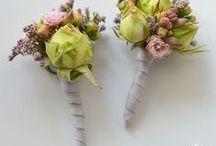 buttonhole - butonierka - ALBUM / Dekoracje ślubne / Weeding decor / przypinki / butonierki / buttonholes