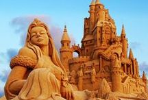 Sand Sculptures / Awesome Sand Sculptures and Amazing Sand Art from all over the world.