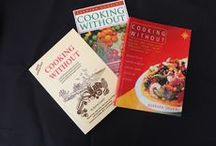 """Cooking Without / The """"Cooking Without"""" series of books was written for the benefit of my clients while I was working as a Nutritional Therapist. I placed clients on sugar, gluten and dairy-free diets at a time when no other 'free from' books were available and before the internet had been invented.  The books have stood the test of time as all are still in print today."""