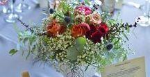 02 - wedding - burgundy&grey&dusty blue / Wedding Day / Wedding Flowers / ARTEMI - colors: burgundy / grey / dusty blue / white / pink