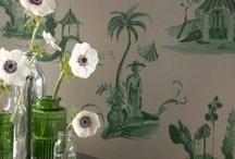 papel pintado toile de jouy / ¿eres una romántica? pues entonces el toile de jouy  es tu papel pintado