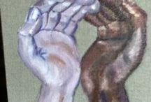 Mes peintures qui parlent /my talking paintings / Yosémite Park, la forêt détruite par le feu. Stop au massacre.