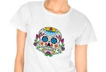 * Mexican Tattoo Sugar Skull / Here are fun and unique Mexican Tattoo Sugar Skull gift ideas. Everything from sugar skull t-shirts to sugar skull key chains, floor mats, and more. Perfect gift ideas for anyone who loves colorful sugar skulls  #Mexican #Tattoo #Sugar #Skull #sugarskulls