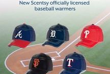 """Scentsy: Major League Baseball Collection / Step up to the plate with our Major League Baseball Collection.  These officially licensed warmers are """"stitched"""" with your team's logo and look great next to the game ball on your shelf."""