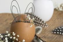 Pascua - Easter: bunnies and chocolate