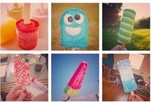 Ice lollies / Lolts of recipes plus fun images of ice lollies for summer! http://lifestylebycaroline.com/home-made-ice-lollies/